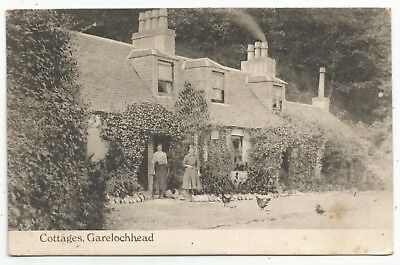 POSTCARDS-SCOTLAND-GARELOCHHEAD-PTD. The Cottages.