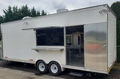 Custom 8.5 X 24 Enclosed Food Vending Mobile Kitchen Catering Events Trailer