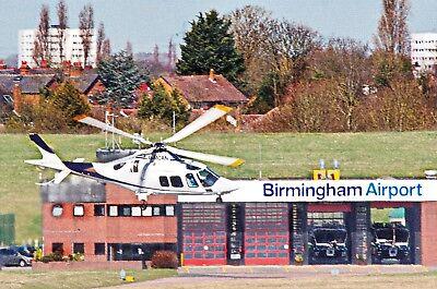 Castle Air Group Agusta A109S Grand G-MCAN Departs Birmingham 05-04-18 Postcard