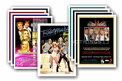 BUCKS FIZZ  - 10 promotional posters - collectable postcard set # 1