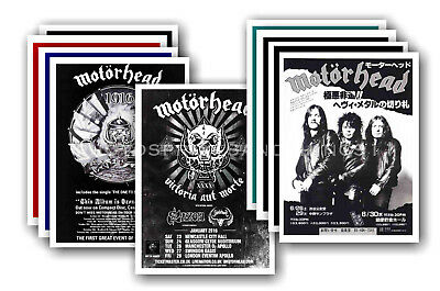 MOTORHEAD - 10 promotional posters  collectable postcard set # 1