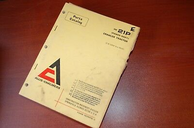 Allis Chalmers Hd21p Tractor Dozer Crawler Parts Manual Book Power Shift Catalog