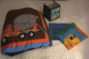 Construction Themed Comforter and Shade