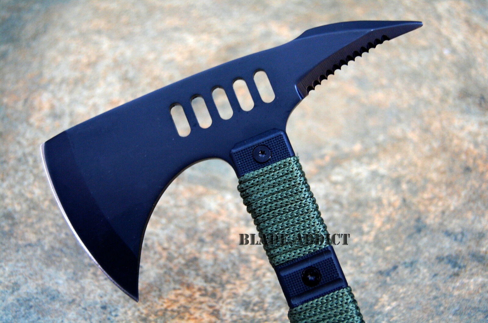 "15"" TOMAHAWK TACTICAL HUNTING AXE CAMPING THROWING BATTLE HATCHET SURVIVAL KNIFE"