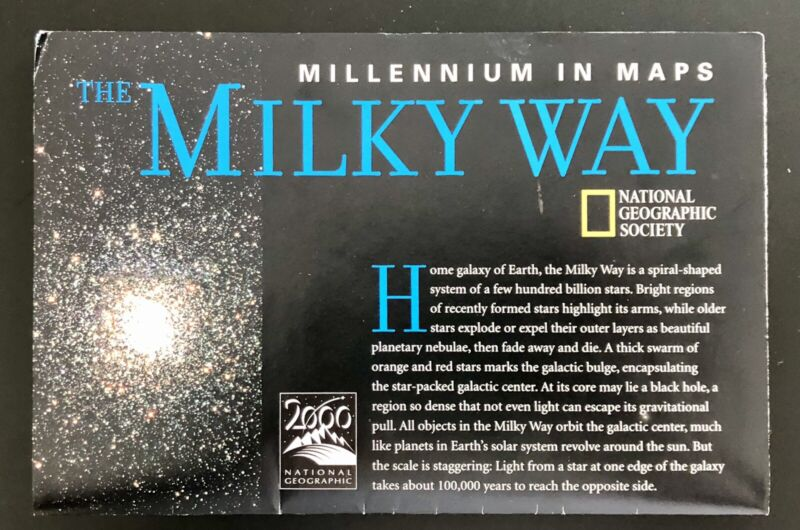 National Geographic Milky Way  Map ~ October 1999 ~ Millennium in Maps