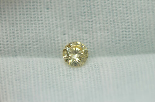 GIA Certified Diamond Loose 1 ct Fancy Yellow Brown Round Brilliant Natural Real 4