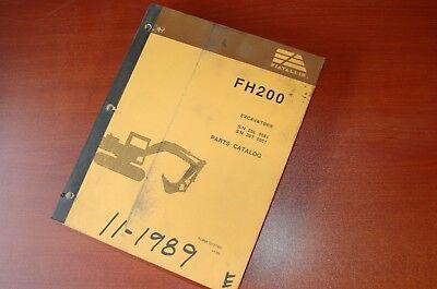 Fiat Allis Fh200 Excavator Trackhoe Crawler Parts Manual Book Catalog 1989 List