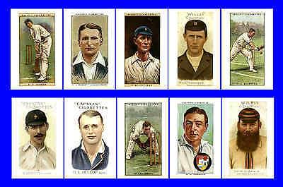 GLOUCESTERSHIRE - CIGARETTE CARD HEROES -  POSTCARD SET # 1
