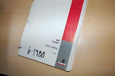 Case 385 Tractor Parts Manual Book Catalog List Spare 1988 8-3332 Farm Owner Oem