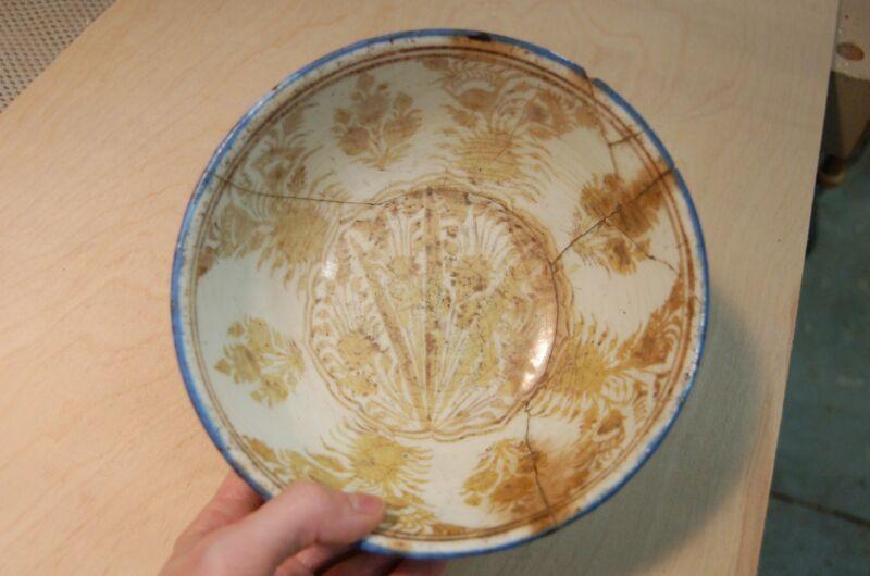 Antique Saffavid Persian Bowl, 17th century, luster glaze, Islamic Antiquity