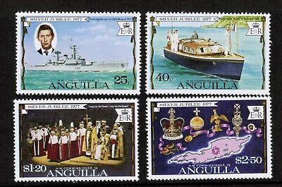 QEII Anguilla Silver Jubilee 1977 MNH UMM SG 298 - 301