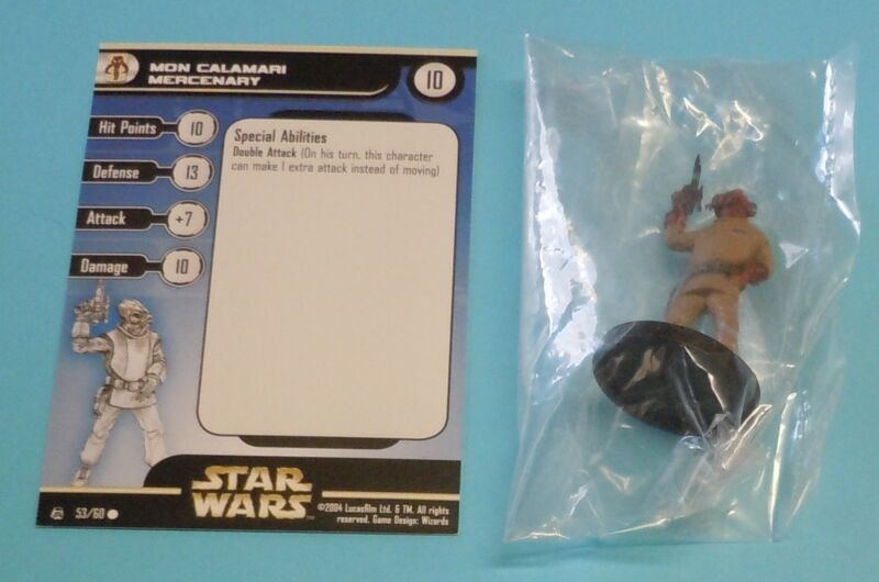 Star Wars Miniatures Mon Calamari Mercenary #53/60 NEW NIB SWM Rebel Storm