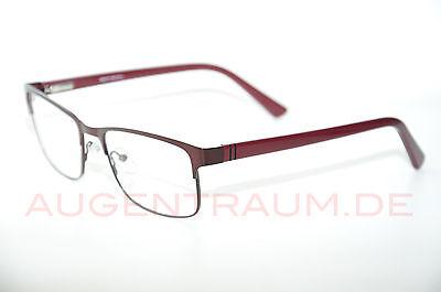 Burgund Metall (stabile Lesebrille aus Metall burgund für Herren +1,0 bis +5,0 Neu)