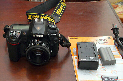Nikon D200 Black Digital Camera w-Nikkor AF 50mm  f1:1.8 Prime Lens