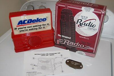 AC AM FM Delco Radio & key holder GM Chevy accessory promo 70s 60s Nos vintage