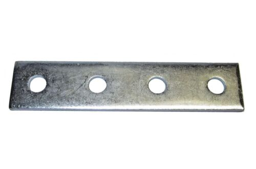 (25) (4) Hole Flat/Splice Plate Fitting For Unistrut Channel Zinc Plated P1067