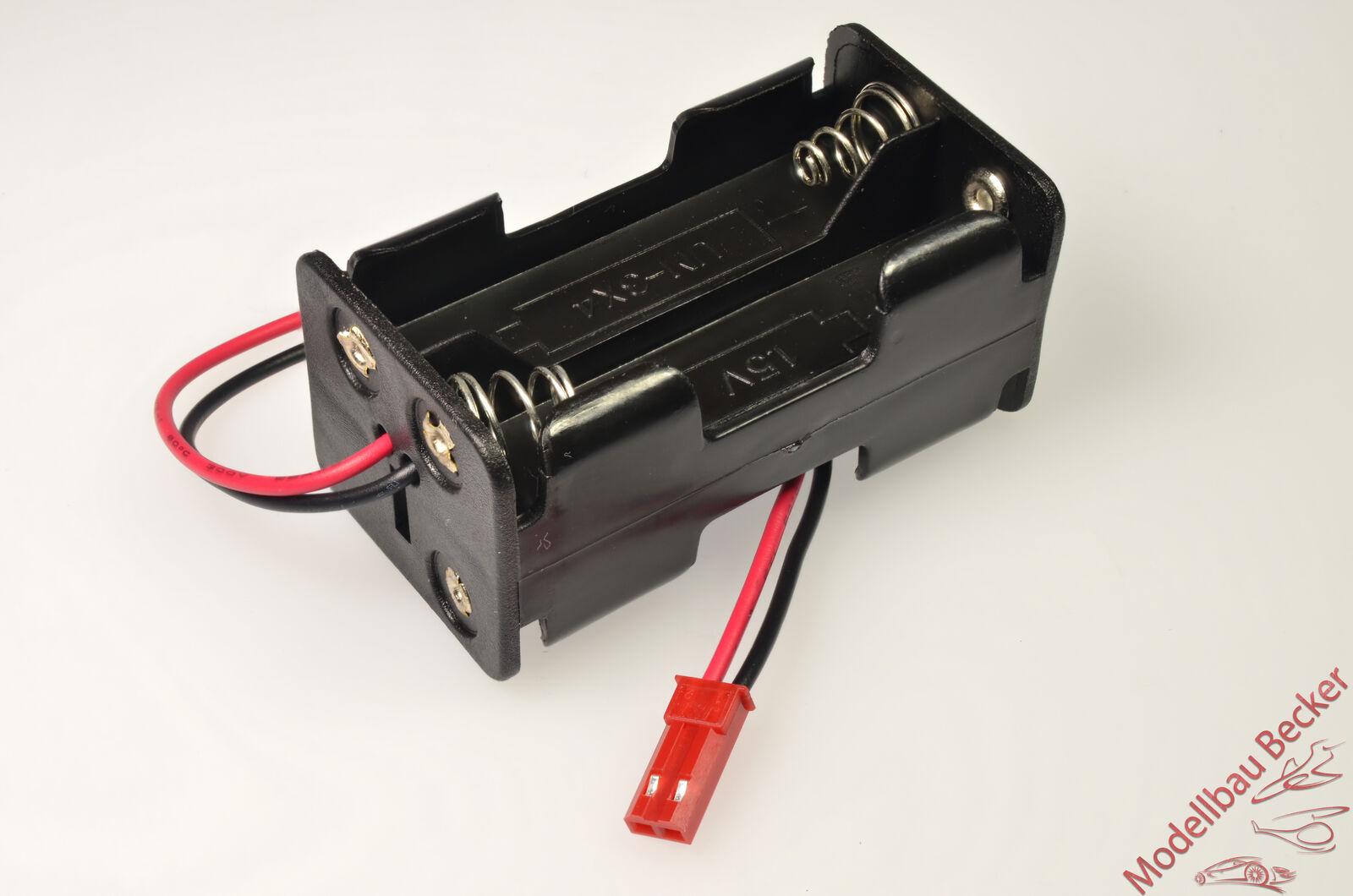 Batteriehalter / Akkubox / Batteriebox 4x Mignon (AA) BEC Buchse