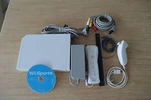 Wii Console + Controller + Nunchuck + IR Bar + Sports Game Kingston Beach Kingborough Area Preview