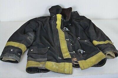 44x35 Janesville Firefighter Jacket Coat Bunker Turn Out Gear 6765 Black W Liner