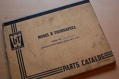 Letourneau Westinghouse Model B Tournapull Scraper Parts Manual Book Pan Spare