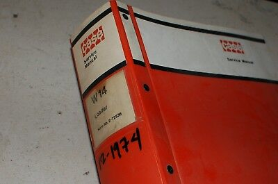 Case W14 Front End Articulated Wheel Loader Repair Shop Service Manual Book 1974