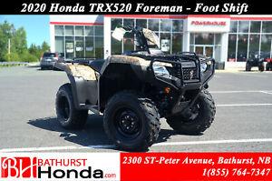 2020 Honda TRX520 Foreman Foot Shift