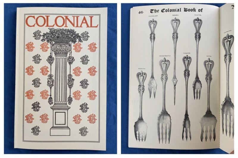 1910 Towle Old Colonial Sterling Silver Flatware Hollowware Catalog Reprint Book