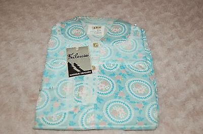Nachthemd Vintage 8 Jahre Blau, Blume, Mädchen (Vintage Mädchen Nachthemd)