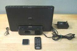 SONY LIGHTNING IPHONE/iPod Alarm Clock Radio Dock ICF-CS15iP w/ Remote & iPod