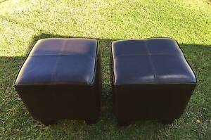 2 BROWN  OTTOMANS . Wakeley Fairfield Area Preview