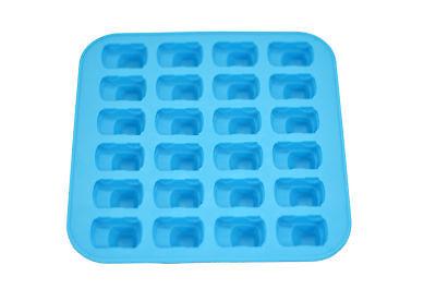 Mini Car Shape Flexible 24 Ice Cube Tray Mold Blue Rubber Novelty Gag Gift Racer ()