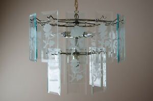 Chandelier and hall lights set