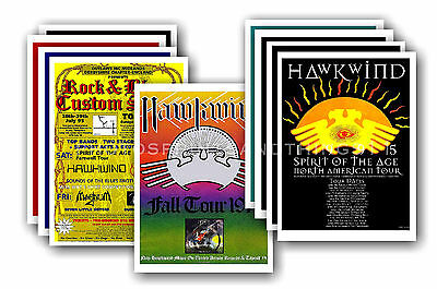 HAWKWIND  - 10 promotional posters - collectable postcard set # 2