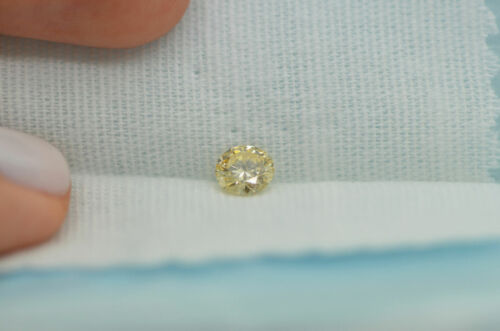 GIA Certified Diamond Loose 1 ct Fancy Yellow Brown Round Brilliant Natural Real 11
