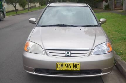 2001 Honda Civic Sedan 1.7 LTR,MANUAL,AIR,STEER,REGO CHEAP CHEAP