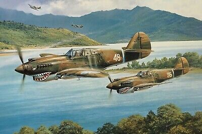 """David /'Tex/' Hill/"""" Signed by /'Tex Hill/' Ernie Boyette /""""P-40 Flying Tiger Ace"""