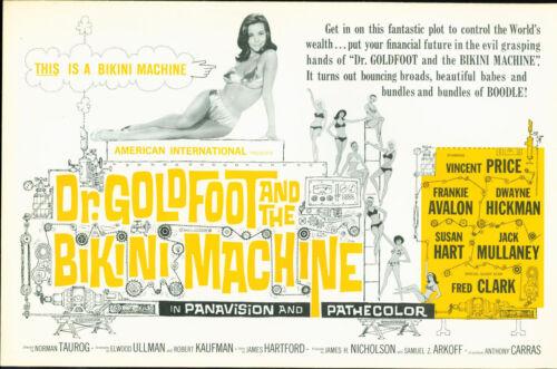 Dr. Goldfoot and the Bikini Machine 1965 Pressbook Vincent Price Frankie Avalon