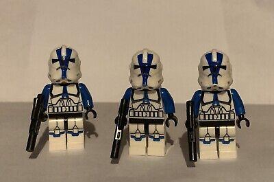 NEW Star Wars 501st Clone Trooper Lot Of 3 Minifigures Republic Army Custom Lego