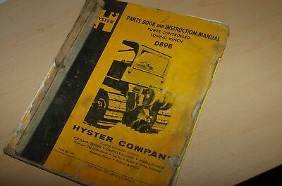 Hyster Cat D8 D9 Tractor Towing Winch Parts Book Service Repair Shop Manual Book