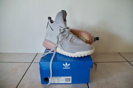 Adidas Originals Tubular X PK (Prime Knit) Sneakers in Granit