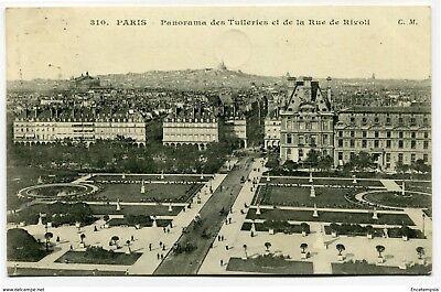 CPA - Carte postale -France Paris-Panorama des Tuileries et de la Rue de Rivoli