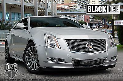 2008-2013 Cadillac CTS eSeries 2pc Heavy Mesh Grille Black Ice E&G 1007-B104-08E