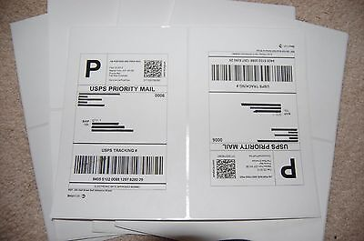 1000 Round Corner-Shipping Labels-Made in USA-Self Adhesive-USPS UPS FED-8.5x11