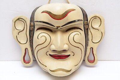 VTG Bali Indonesian Ceremonial dance mask wood painted Balinese java Javanese