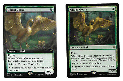 MAGIC THE GATHERING (2) GILDED GOOSE EXTENDED ART & FOIL MUST SEE!!!