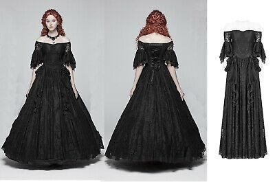 Punk Rave Gothic Hochzeit Nugoth Victorian Spitze Ball Kleid Prom Dress WQ-391 (Rave Dress)