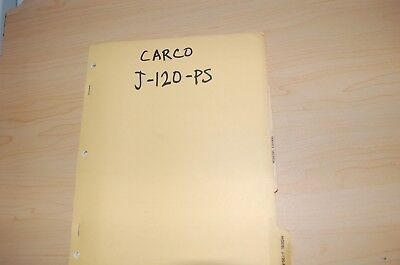 Carco J-120-ps Tractor Dozer Crawler Winch Service Owner Operator Parts Manual