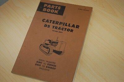 Caterpillar D5 Tractor Dozer Crawler Parts Manual Book Catalog List Spare 1971