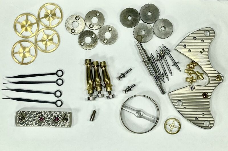 Elgin 600 Marine Ship Chronometer Parts plus scarce Bimetallic Balance Wheel