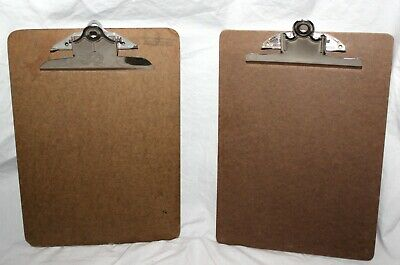 Vintage Lot Of 2 Masonite Clipboards One Stempel 9 X 12.5 Inches